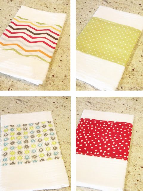 Embellish a dish towel - great gift idea! | For the Home