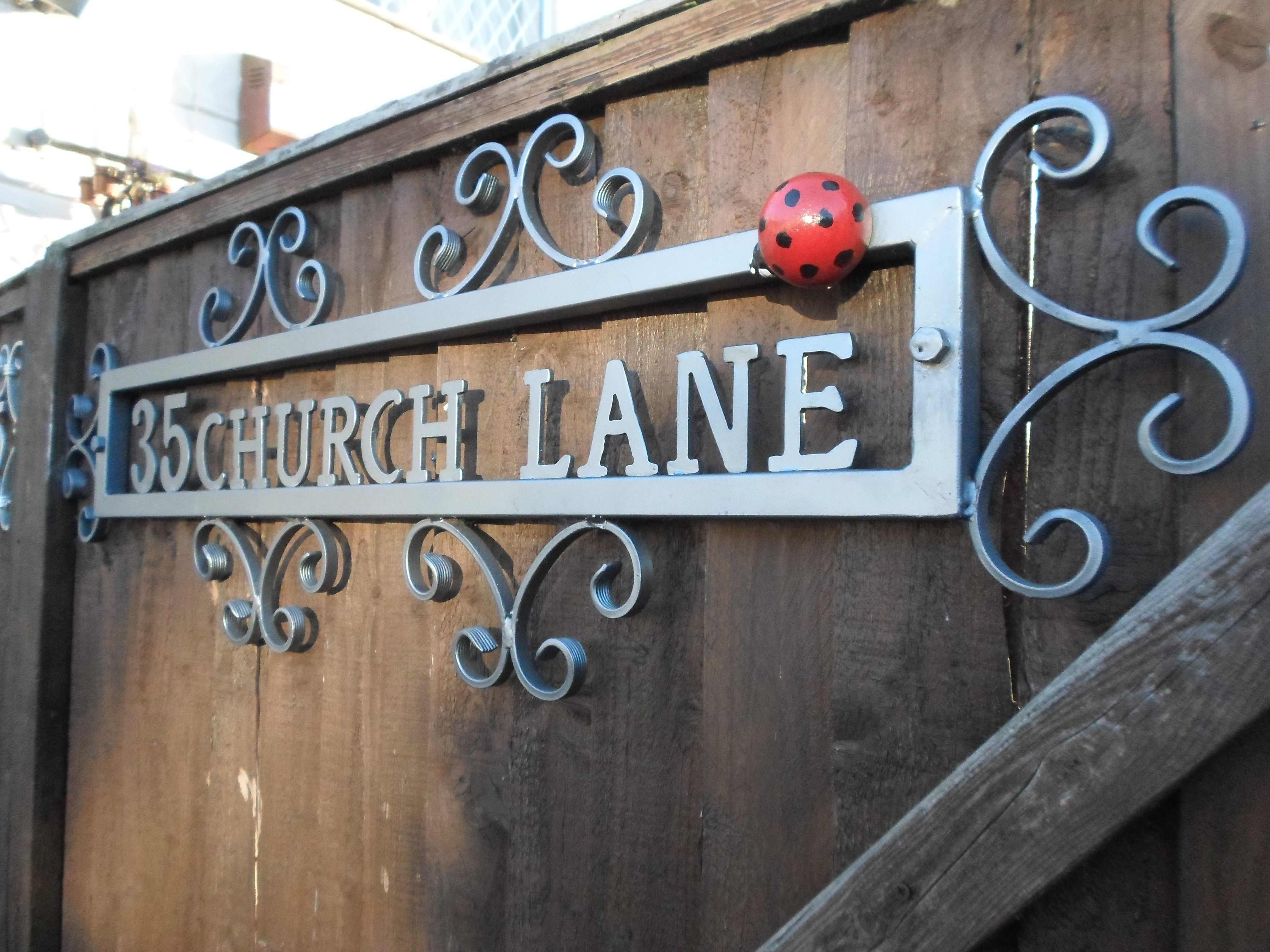 Wrought Iron Bespoke House Address Plaque Made To Order Ckmetalcraft Co Uk