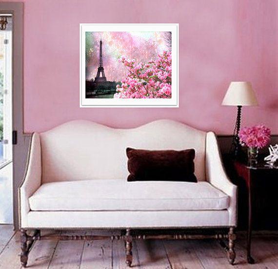 Paris Photography, Eiffel Tower Pink Floral, Paris Pink Spring Fine ...