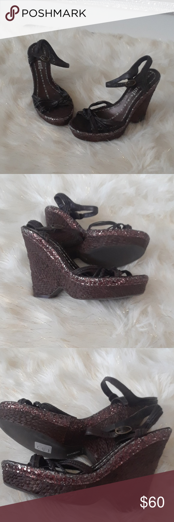 8a36ee8d718 Vic Matie glitter wedge Brand new never used Vic Matie Shoes Wedges ...