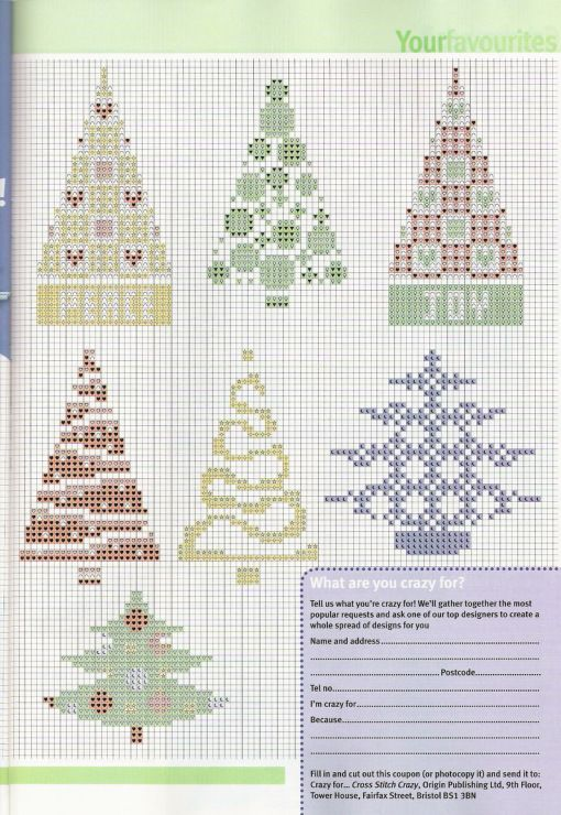 many trees | Costuras | Pinterest | Punto de cruz navidad, Punto de ...