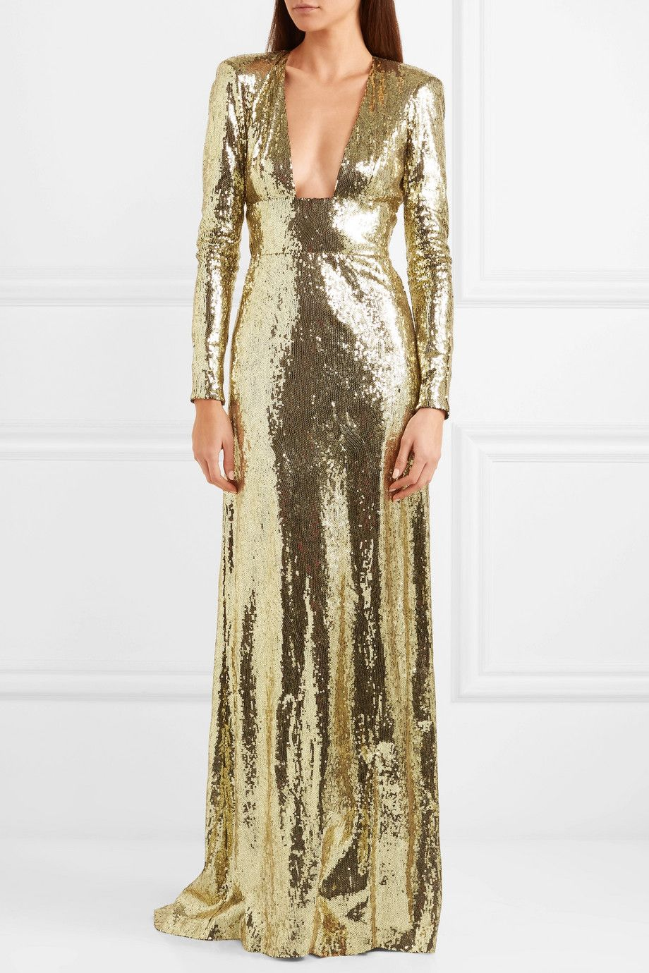 72d03a57e0441 Dundas - Open-back sequined tulle gown in 2019 | High Fashion ...