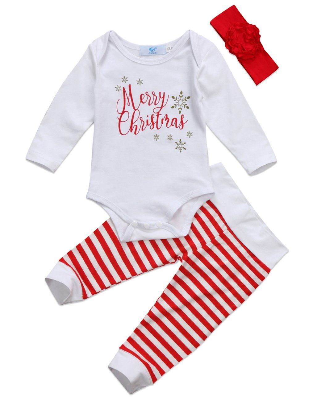 Newborn Baby Girls Boys Set Striped Long Sleeve Bodysuit Rompers Outfits Clothes