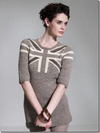 Union Jack Sweater Dress Knitting Pattern Stunning Style Envy