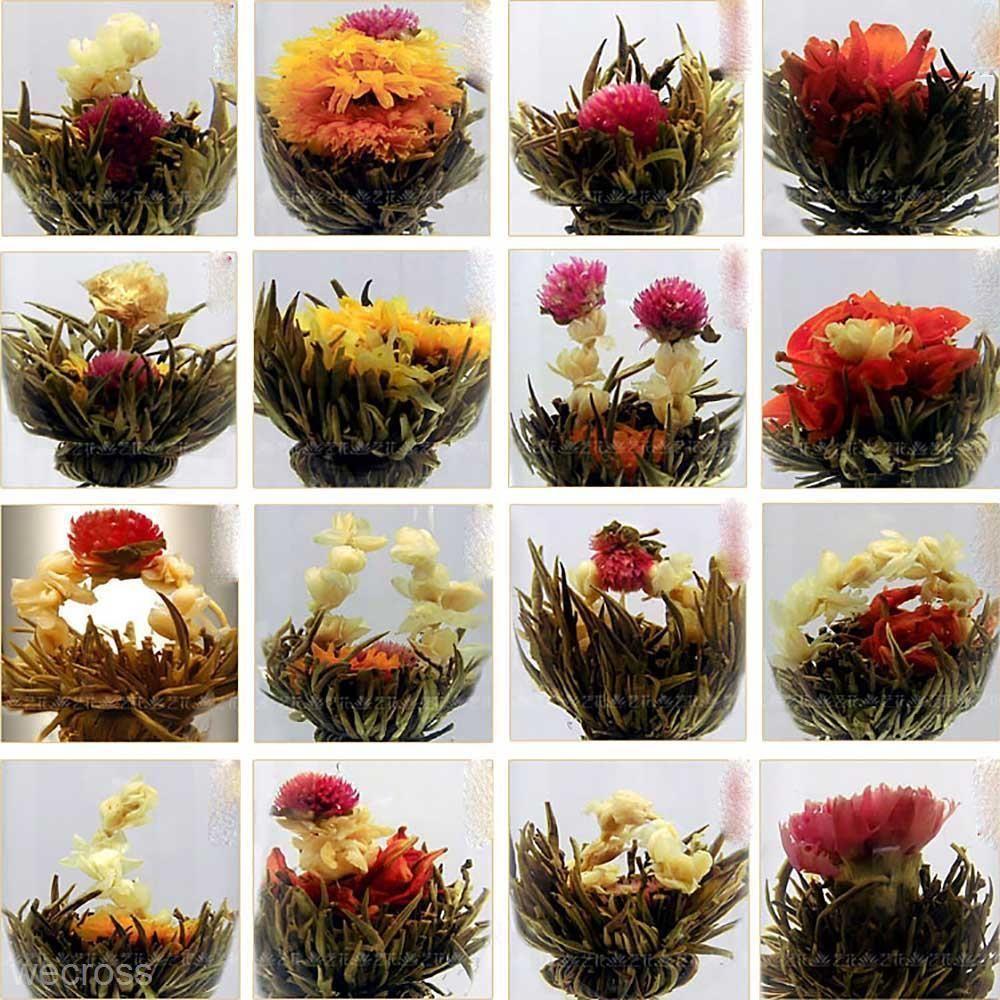 10pcs handmade chinese green artistic blooming flowering