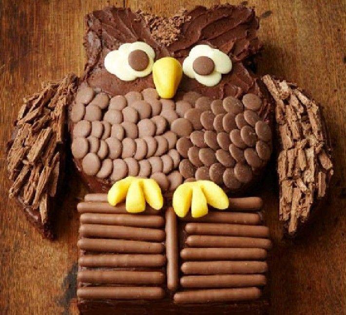Diy Owl Birthday Cake Owl Birthday Cakes Birthday Cakes And Birthdays