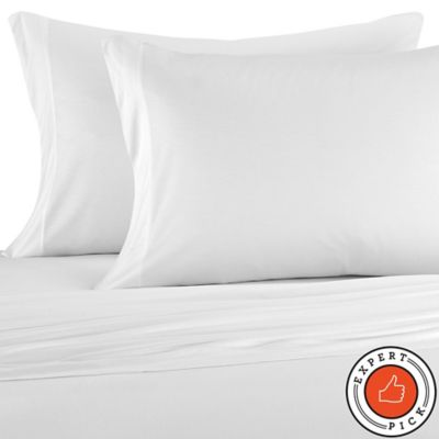 Pure Beech Jersey Knit Modal Standard Pillowcases In White Set