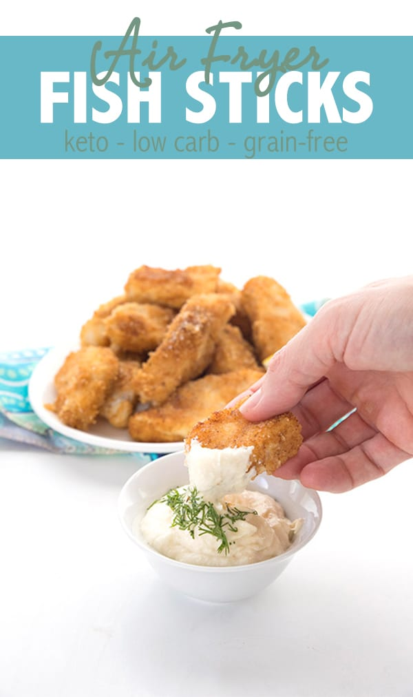 Crispy Keto Fish Sticks in the Air Fryer and also oven