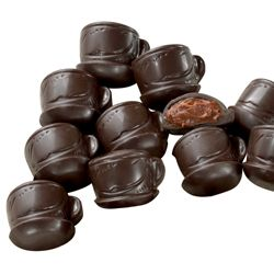 Coffee Cup Shaped Chocolates  $8.50 http://www.fancyflours.com/product/Coffee-Cup-Shaped-Chocolates/tea-time-party-theme