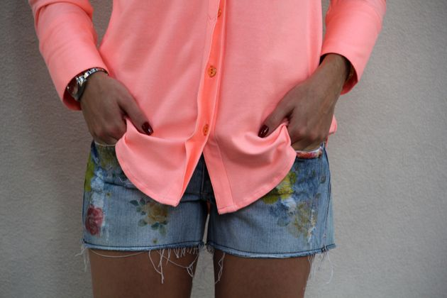 neon and jeans
