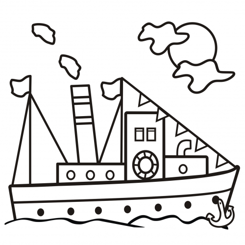 Coloring Page Ship Kidspressmagazine Com Coloring Pages Coloring Books Cartoon Coloring Pages
