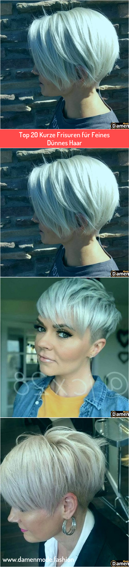 Photo of Top 20 Kurze Frisuren für Feines Dünnes Haar