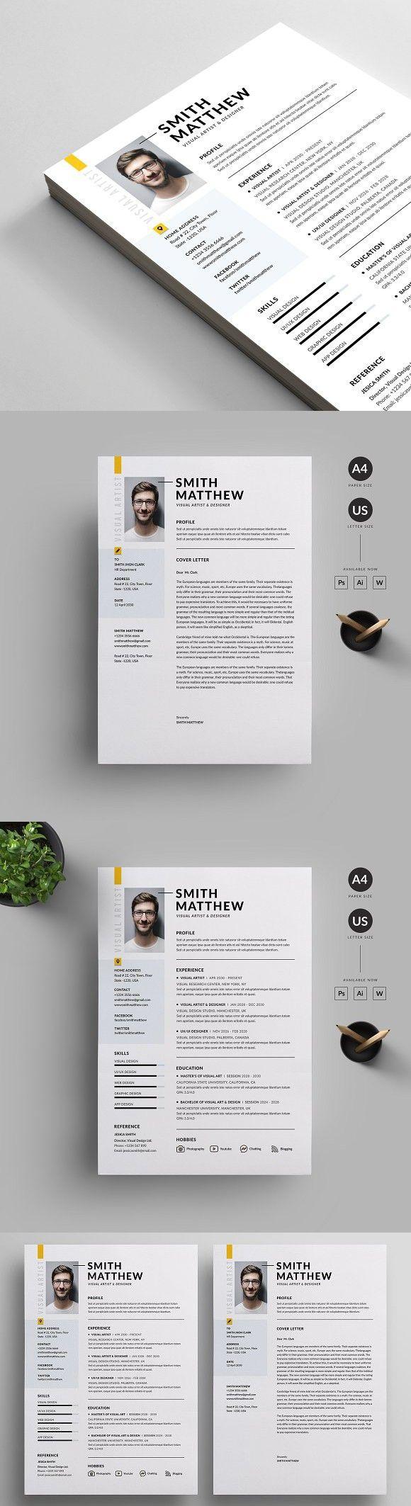 Resume/CV Letterhead design, Resume cv, Resume