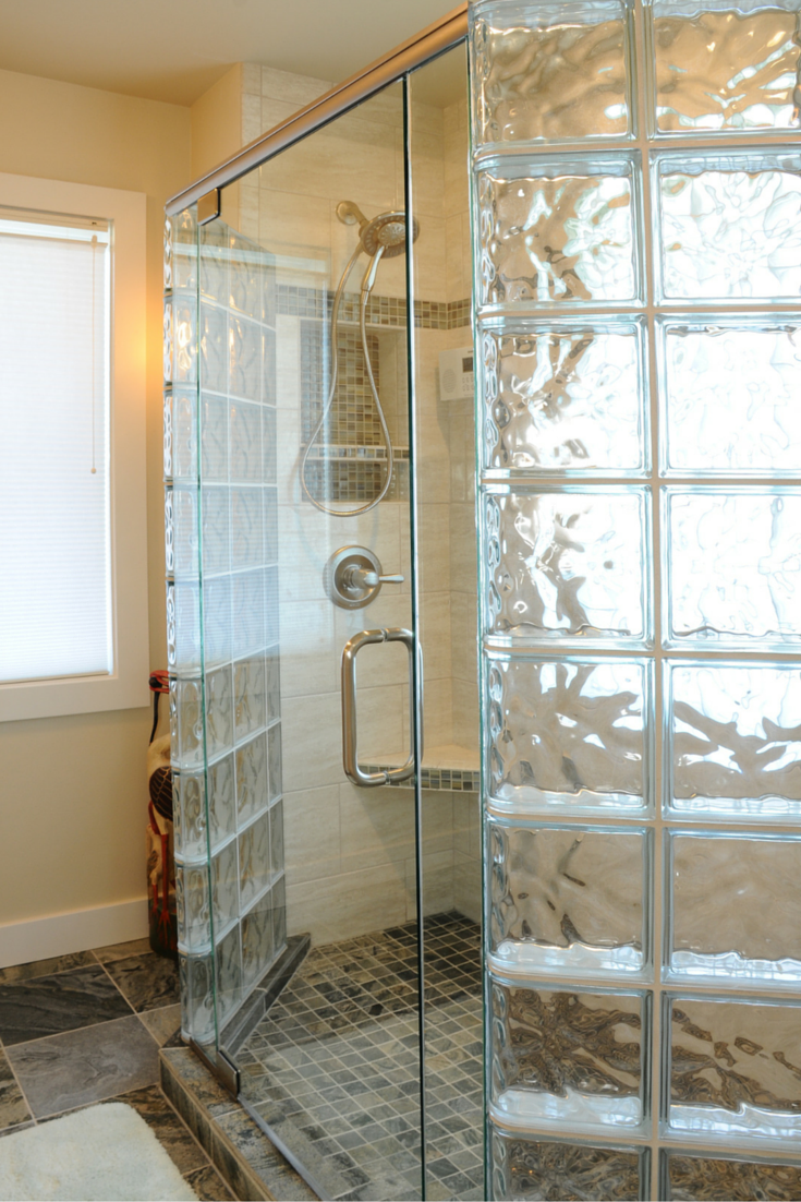 7 Myths About Glass Block Showers Bathroom Remodeling Ideas