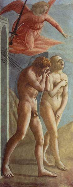 1427 Massacio The Expulsion From Eden Fresco Church Of Santa