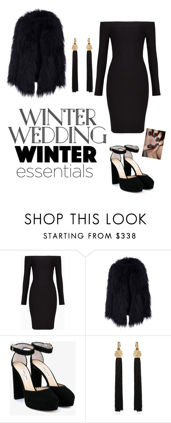 """""""Untitled #15"""" by teo-teodora-i ❤ liked on Polyvore featuring BCBGMAXAZRIA, Jimmy Choo and Yves Saint Laurent"""
