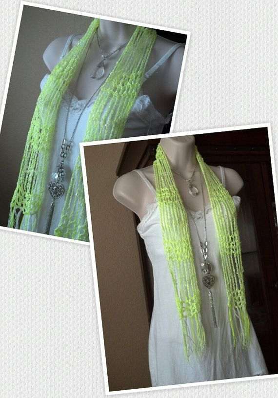 Crochet summer scarf lightweight with by TexasOnlineTreasures, $14.90