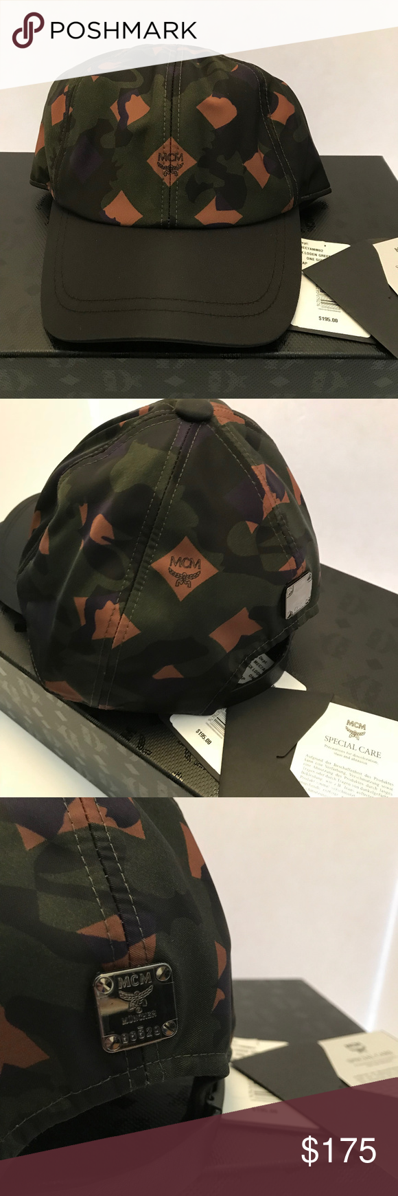 96f77234df575 Mcm dieter lion camo baseball cap