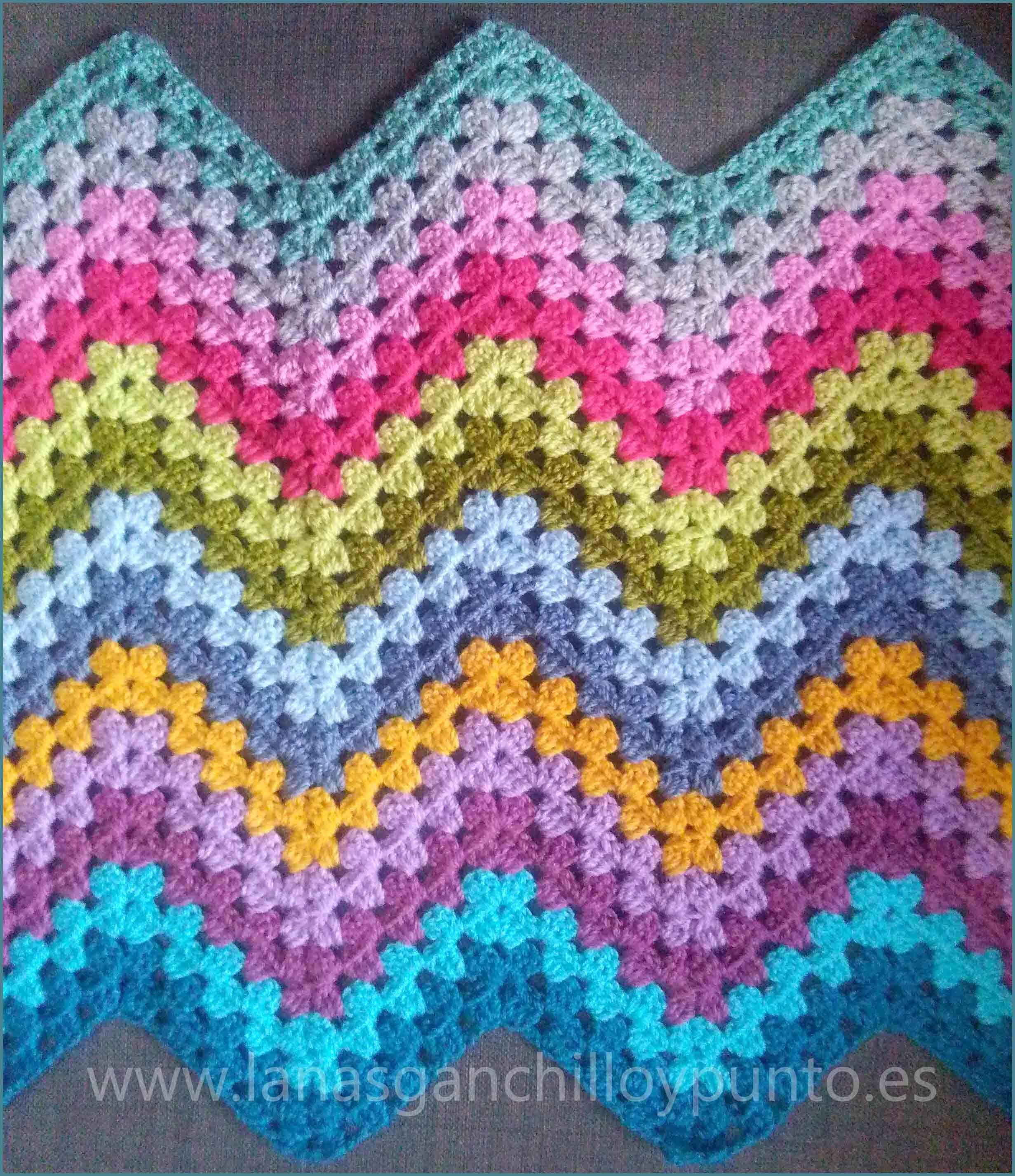 patrón manta ganchillo con ovillo planet de lanas katia | Ganchillo ...