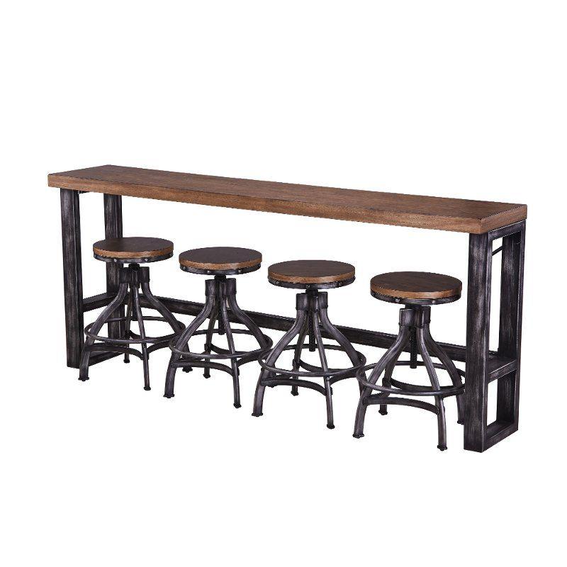Groovy Rustic Brown Sofa Bar Table And 4 Bar Stools Chandler Cjindustries Chair Design For Home Cjindustriesco