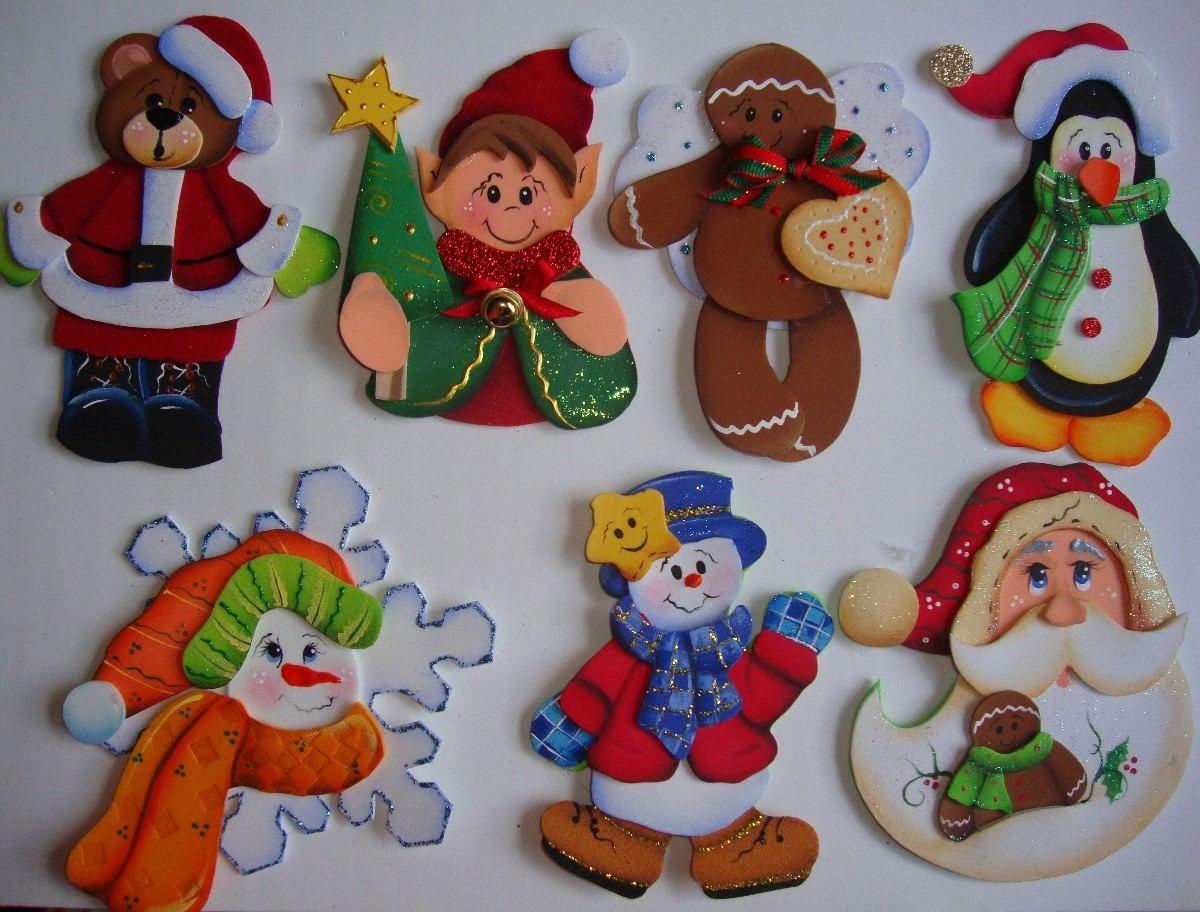 Varios navidad colgantes pinterest dibujos en - Decoracion navidad goma eva ...