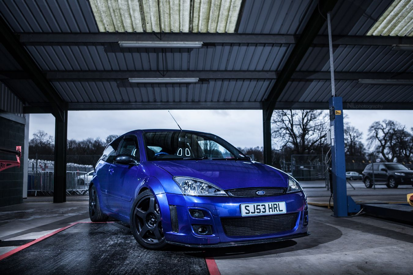 Ford Focus Rs Mk1 With Big Amazing Rims Ford Focus Ford Focus