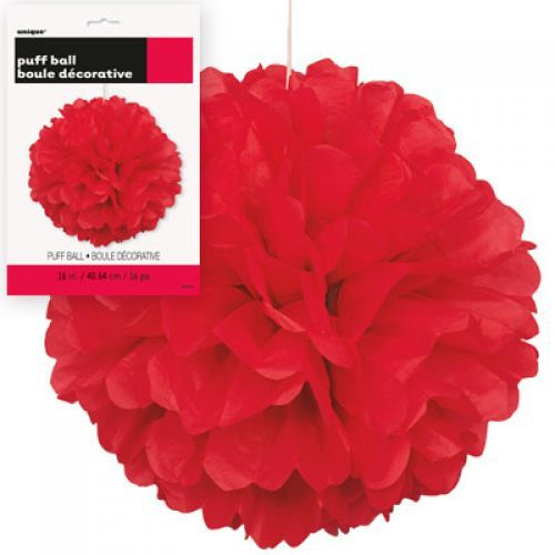 Paper Puff Ball Decorations Gorgeous Red Paper Puff Ball Pom Pom Decoration Httpwwwwfdennycoukp Design Decoration