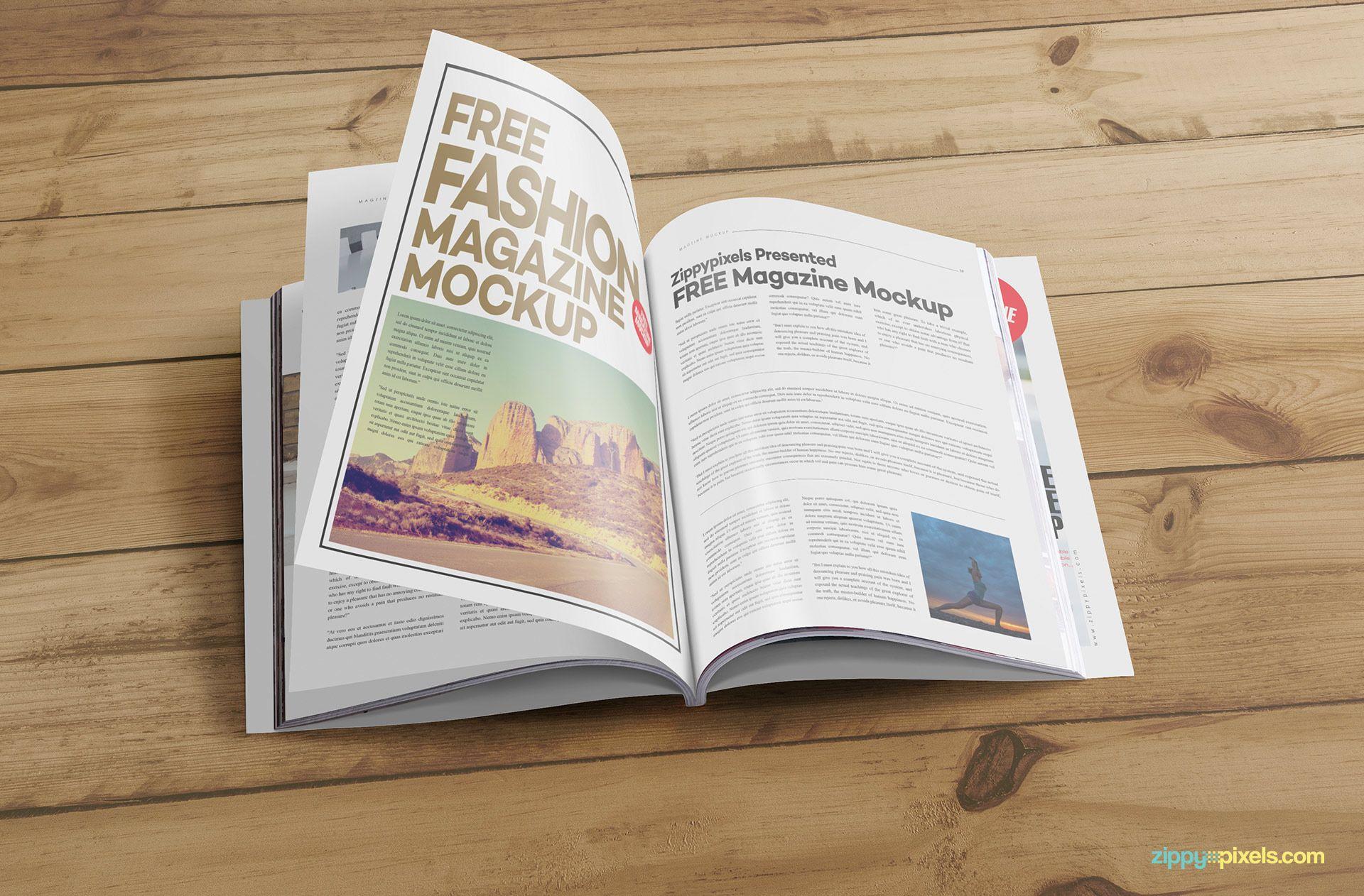 Free Us Letter Size Catalog Mockup Zippypixels Magazine Mockup Business Template Book Cover Design