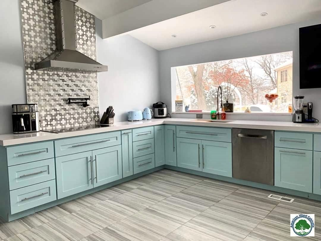 Blue Kitchan Cabinets In 2020 Beautiful Kitchen Cabinets European Kitchen Cabinets European Kitchens