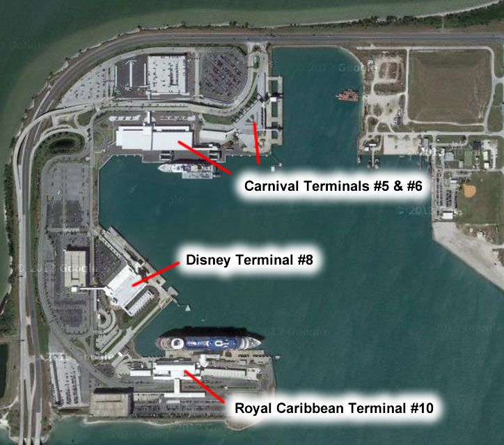 Port Canaveral terminal map