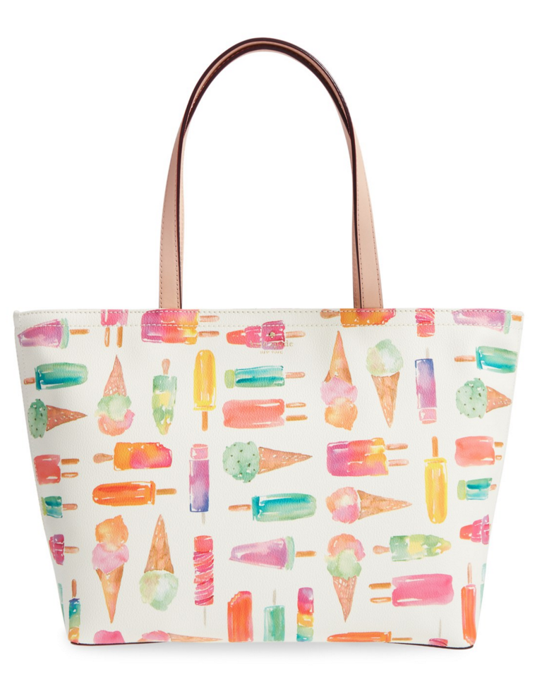ice cream print tote