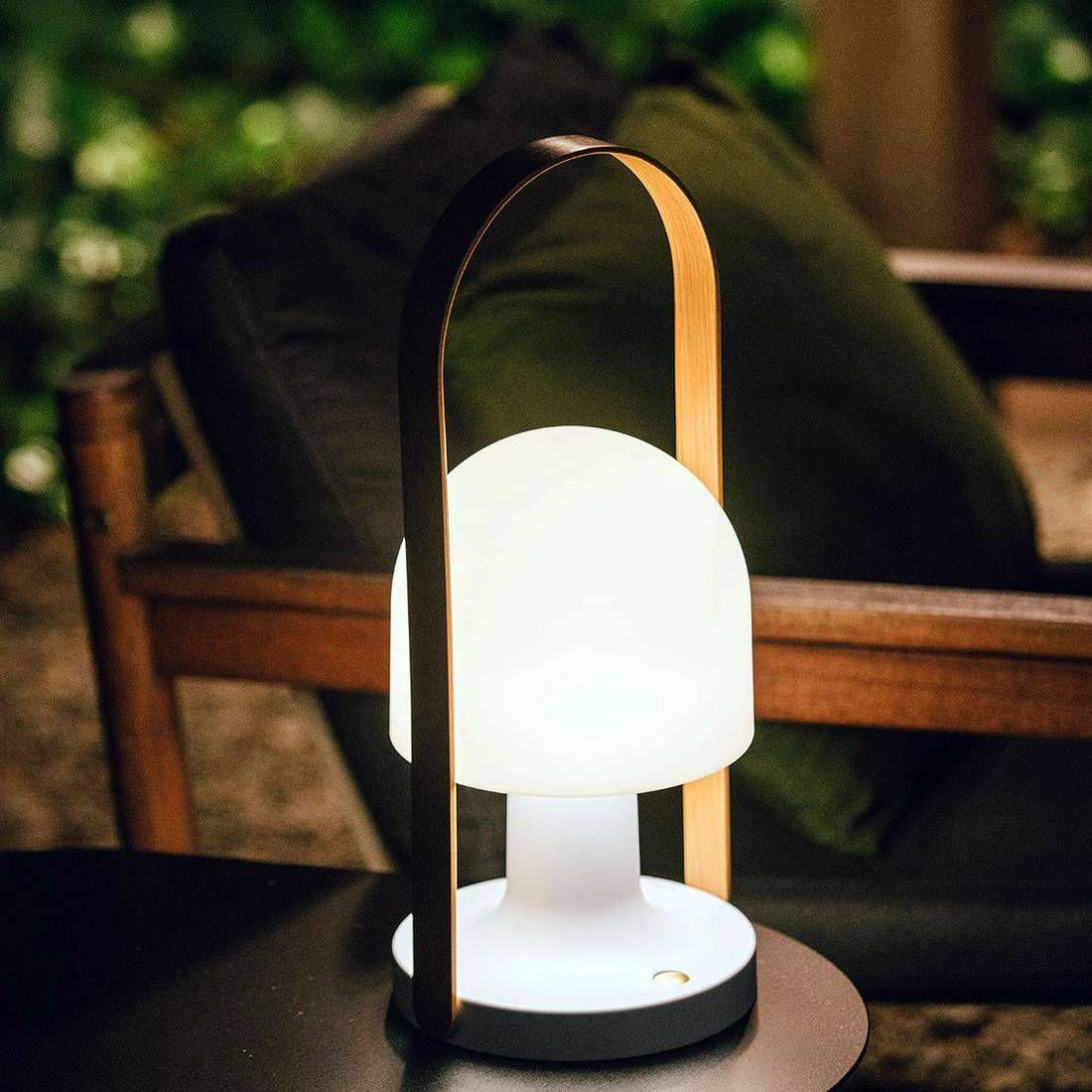 Lampe Baladeuse Led Rechargeable Chene Blanc H44 3cm Follow Me