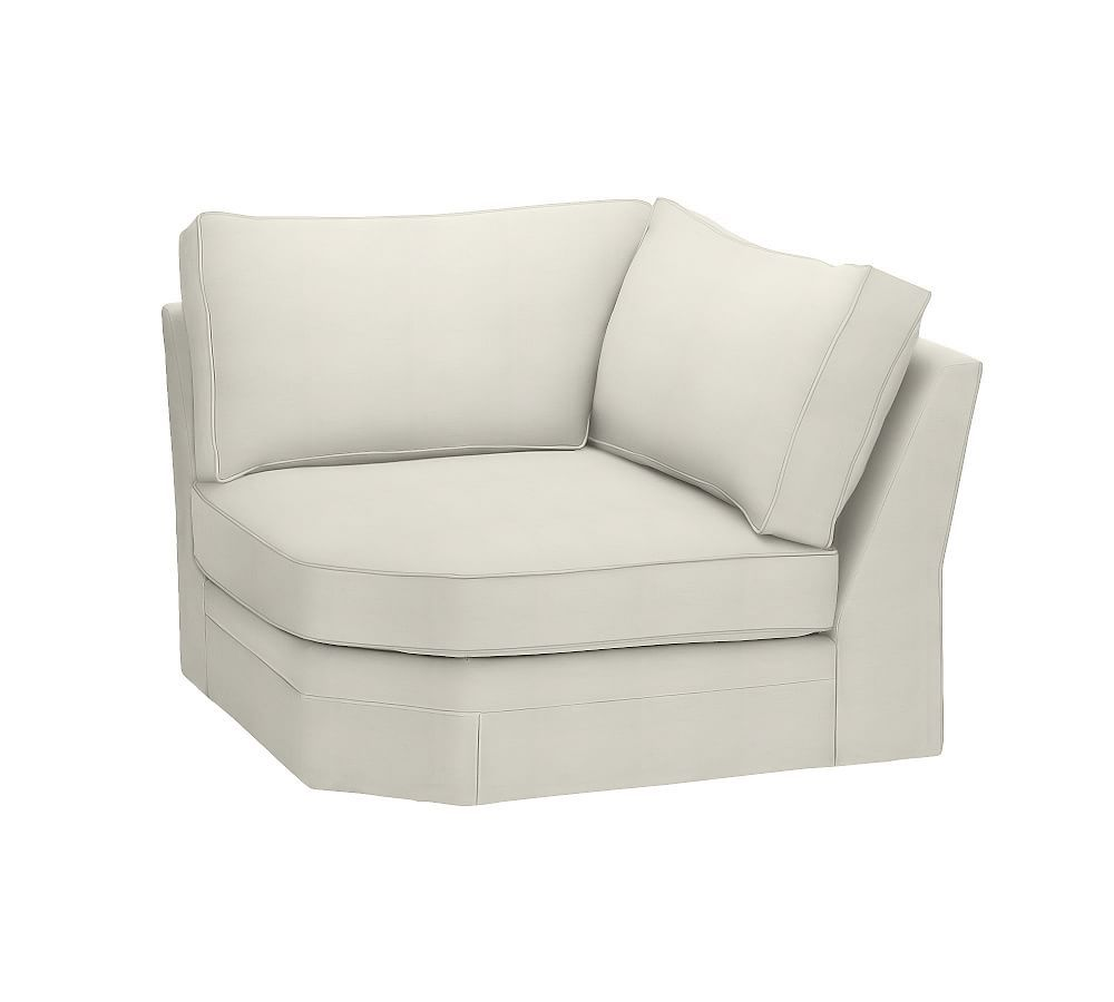 Pearce Right Arm Chaise Slipcover Organic Cotton