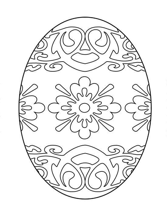 free easter egg coloring pages - Egg Coloring Sheet