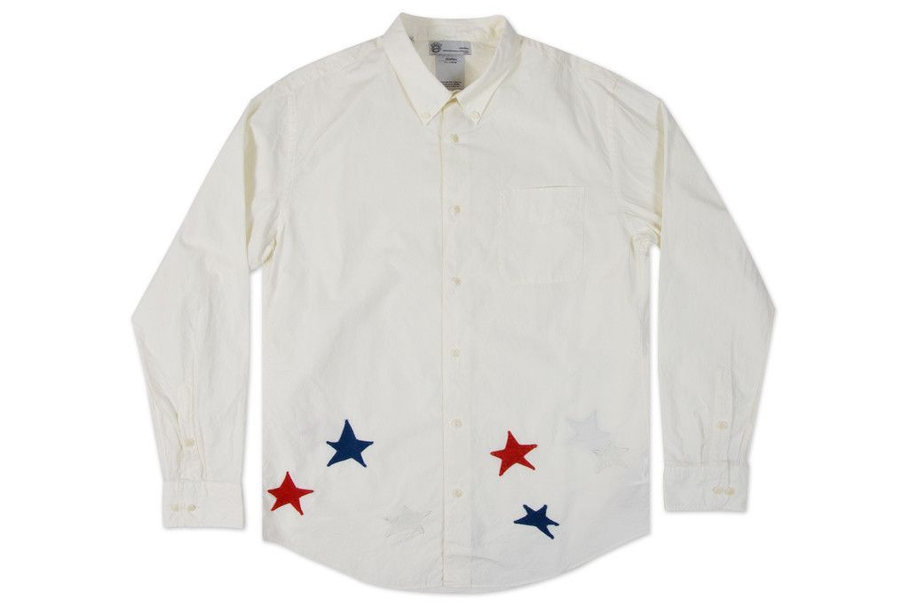 Visvim Lungta Lights Button Down Giza Broad Shirt - Ivory