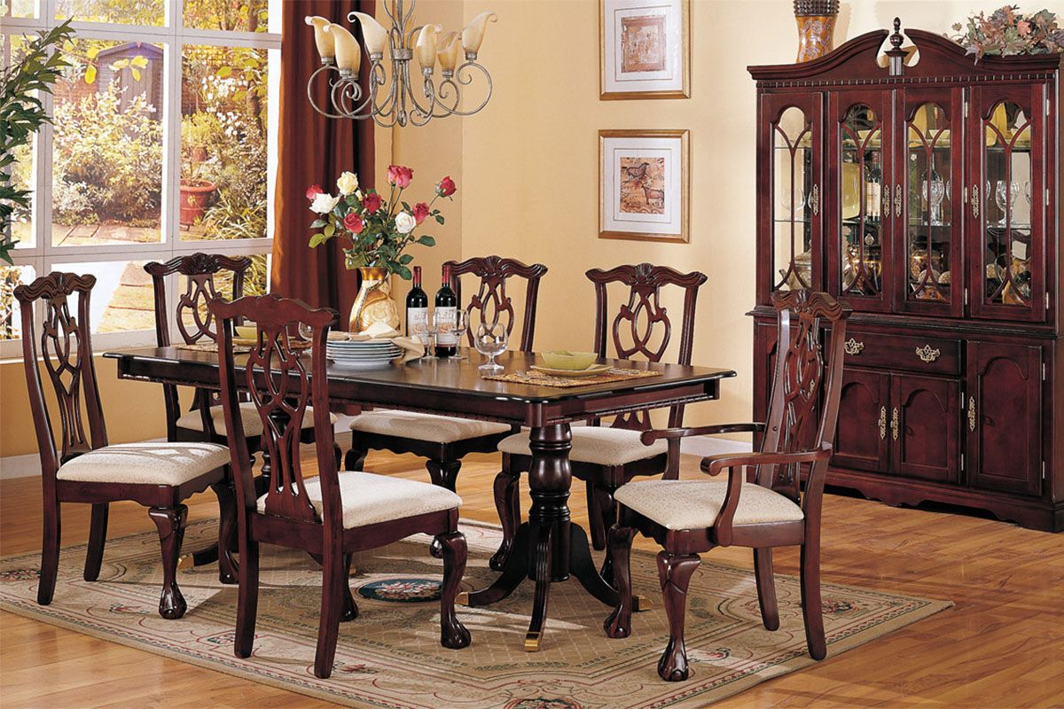 Décor for Formal Dining Room Designs | Cherry dining room ...
