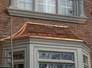 Copper Roof For Front Bay Window And For The Door Way French Architecture Copper Roof Bow Window
