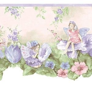 Thats My Room Store Flower Fairies Wall Border Purple 24 99 Http Www Thatsmyroom Com Flower Fairies Fairy Wallpaper Little Girl Wallpaper Flower Fairies