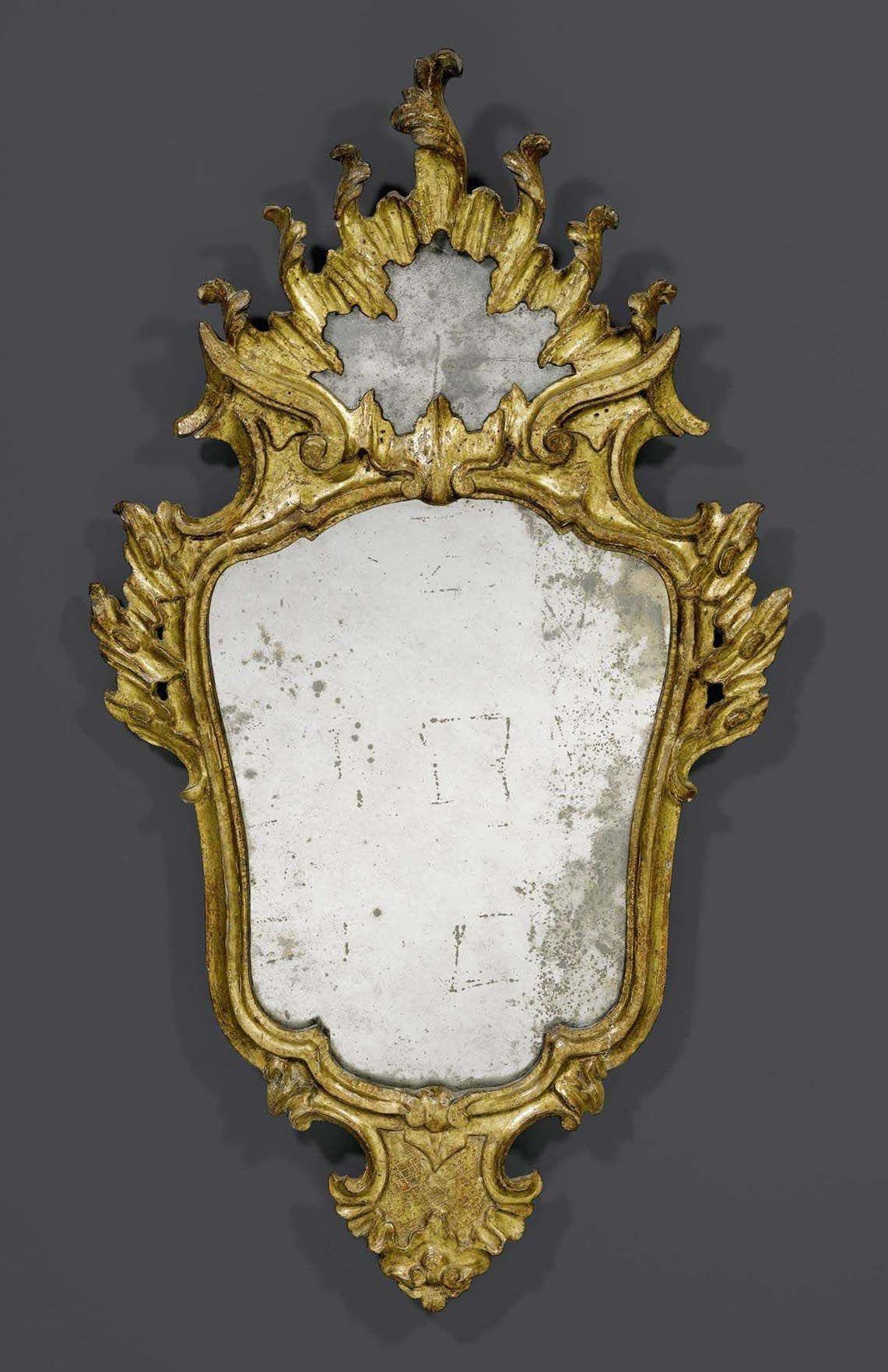 SPIEGEL, Louis XV, Venedig, 18. Jh. H 87 cm. B 49 cm. | Камод ...
