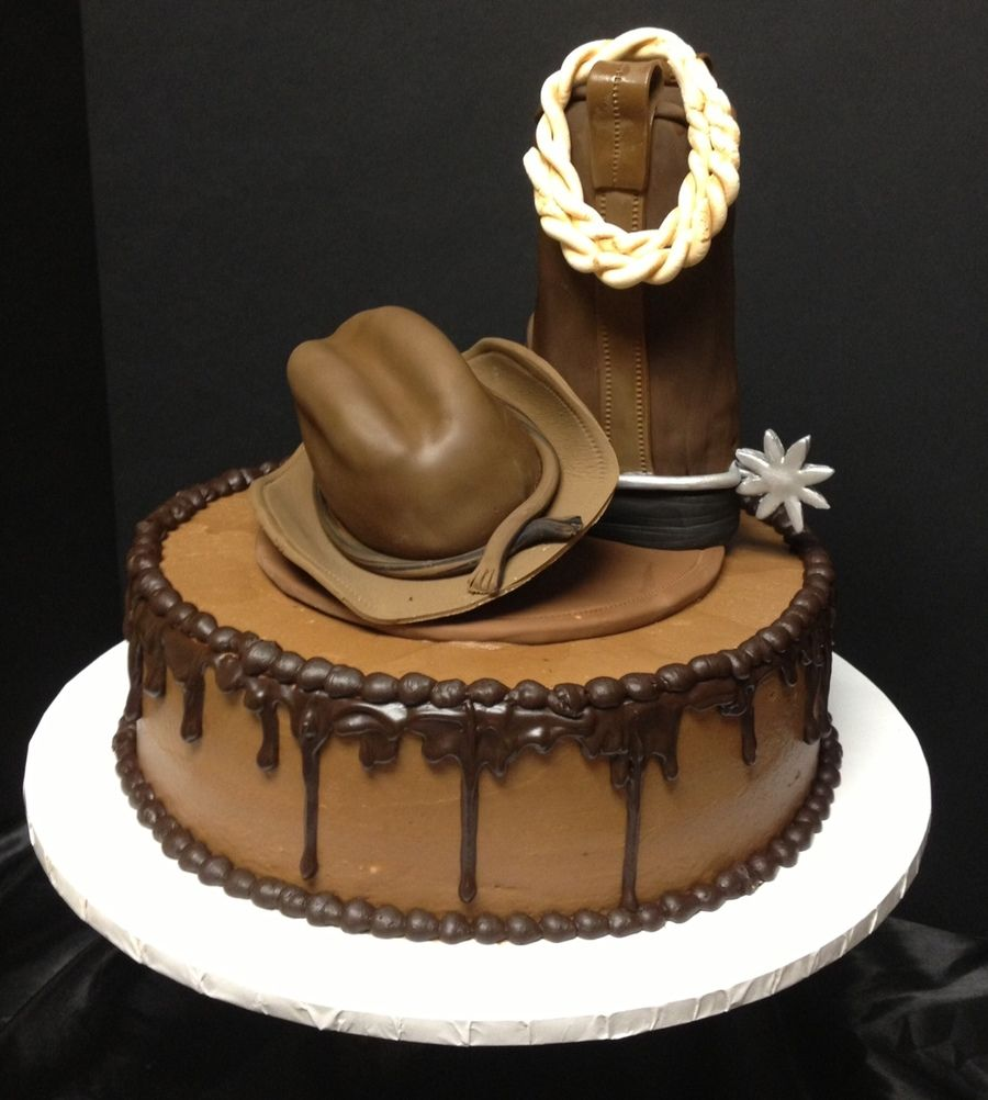Death By Chocolate Rice Crispy Cowboy Boot And Hat Country