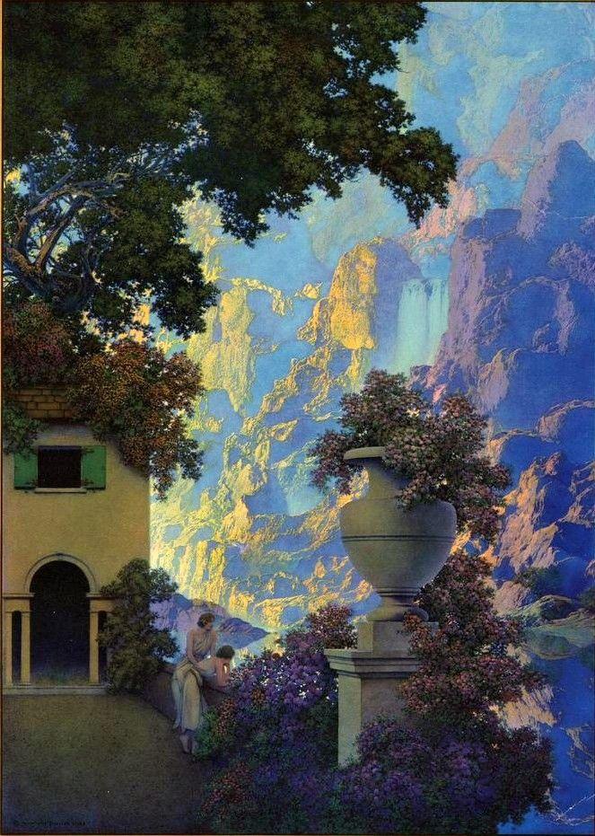 Sunrise by Maxfield Parrish | Art, Maxfield parrish, American art