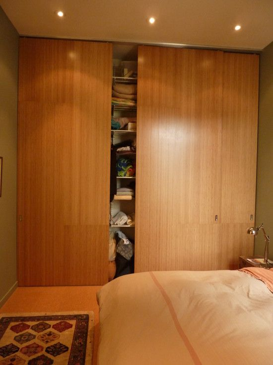 Doors Design Ideas Modern Bedroom Ideas With Wood Sliding Closet