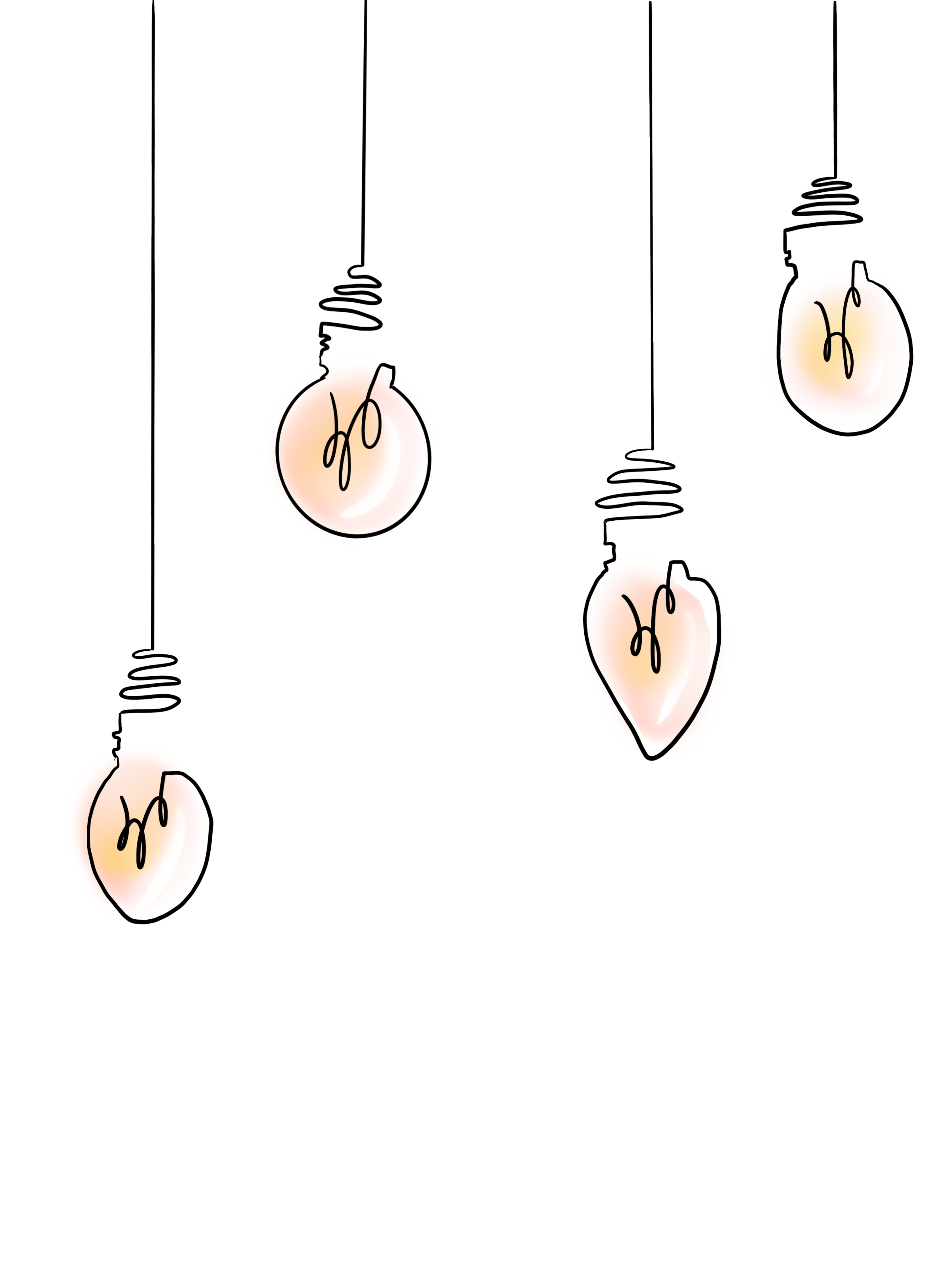 Simple Aesthetic stickers /lightbulb/