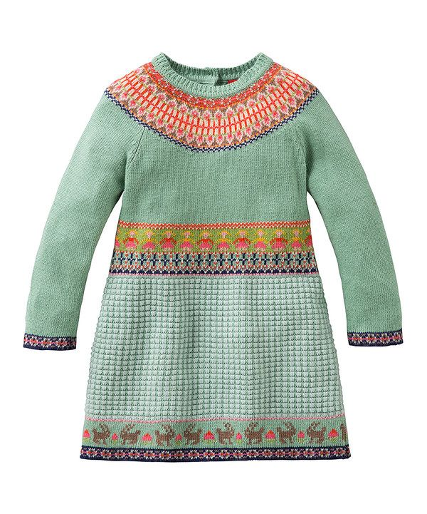 Look at this Oilily Green Fair Isle Kosja Dress - Girls on #zulily ...