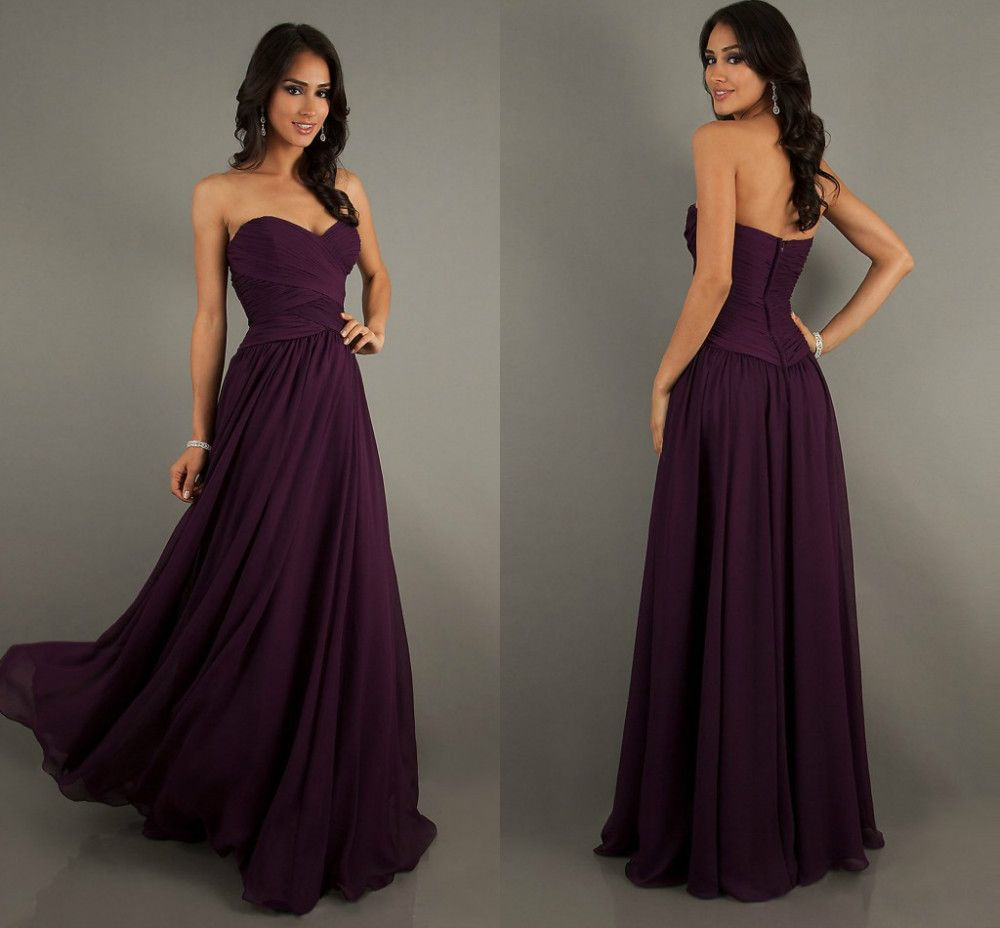 Eggplant bridesmaid dresses long wedding ideas pinterest eggplant bridesmaid dresses long ombrellifo Image collections