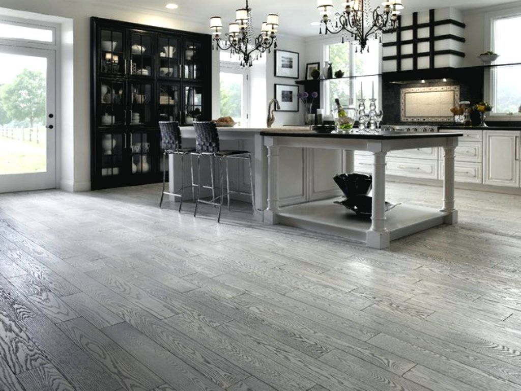 Grey Stained Hardwood Floors