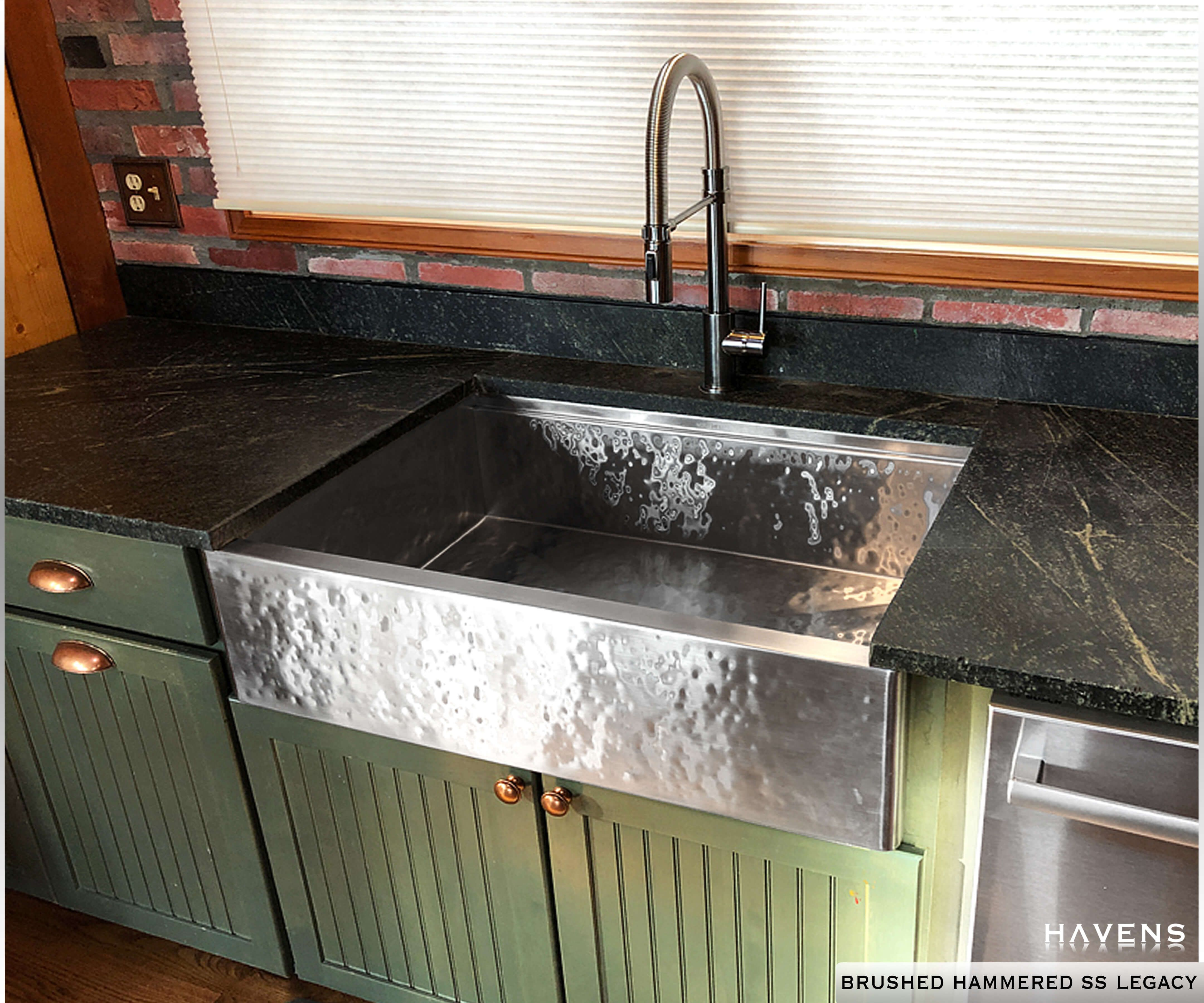Legacy Farmhouse Sink Brushed Hammered Stainless In 2020