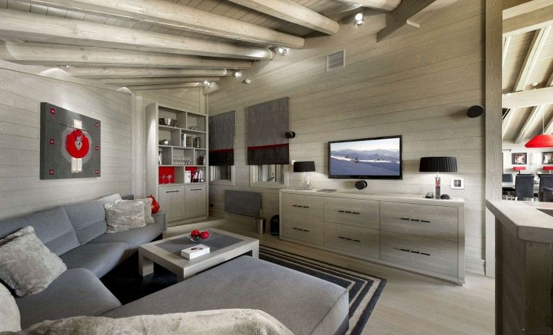 Chalet K2 In Courchevel France Living Room Innenarchitektur