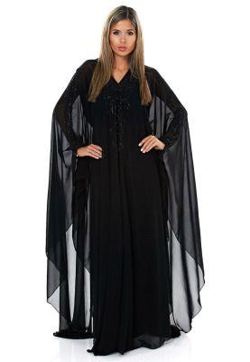 Buy Hayas Closet Black Embellished Abaya For Women In Mena Worldwide Muslim Fashion Women Full Length Gowns