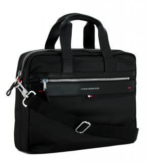 Computertasche Tommy Hilfiger Perlon Elevated Schwarz Gepolstert Bags More Laptop Tasche Herrentasche Taschen